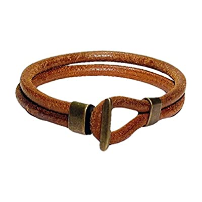 AUTHENTIC HANDMADE Leather Bracelet, Men Women Wristbands Braided Bangle Craft Multi [SKU001542]