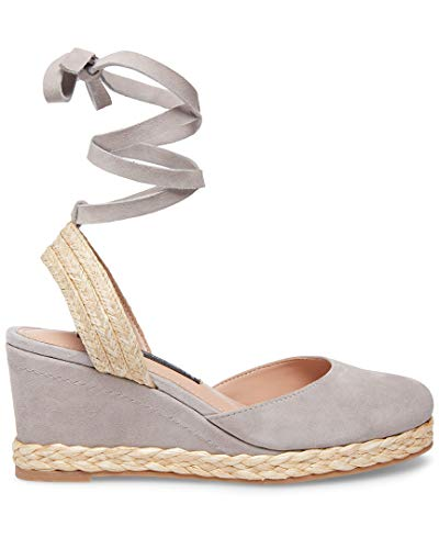 (STEVEN by Steve Madden Women's Charly Sandal, Grey Suede, 7.5 M US)