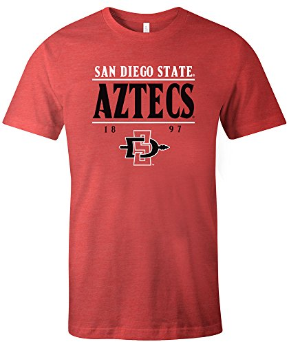 NCAA San Diego State Aztecs Tradition Short Sleeve Tri-Blend T-Shirt, Red,Large