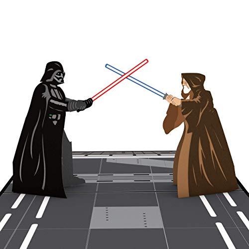 Birthday Pop - Star Wars Obi-Wan vs. Darth Vader Pop Up Card, 3D Card, Star Wars Birthday Card, Greeting Cards, Card for Dad, Birthday Card for Kids