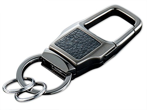 Olivery Valet Detachable Keychain, Car Key Chain, Stainless Steel, Heavy Duty with 2 Rings in Metal Gift Box.The Perfect Combination of Luxury, Power & Elegance - Will Never Rust, Bend or Break