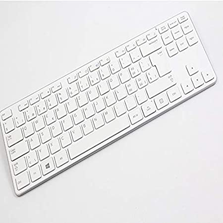 Color : C Keyboard Thin Blue Mouse XJRHB White Set Wireless Keyboard and Mouse