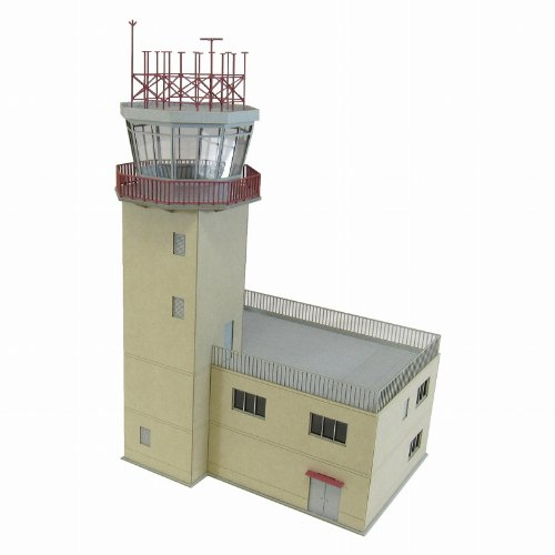 1/144 Aviation sight series Control tower type-A (papercraft) by Sankei