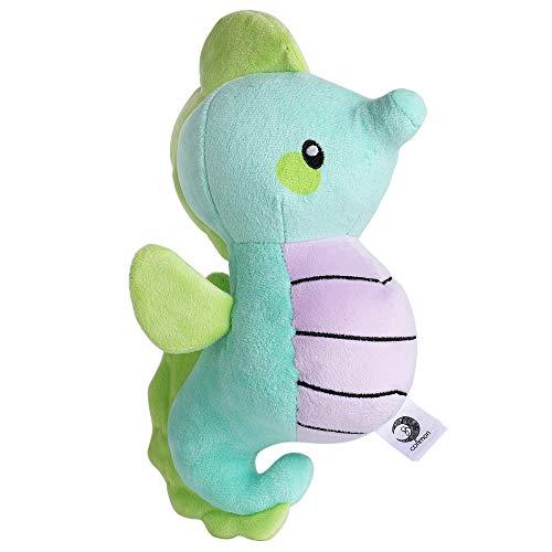 - corimori 1849 - Tiki The Seahorse Stuffed Toy Cuddly Plush Animal for Children, Approx. 10 inches, Blue, White, Grey