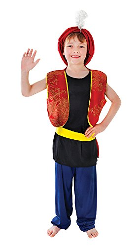 Bristol Novelty CC981 Arabian Boy Costume, Medium, Approx Age 5 - 7 Years, Arabian Boy (M)