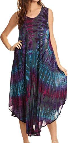 Cotton Batik Caftan Dress - 7