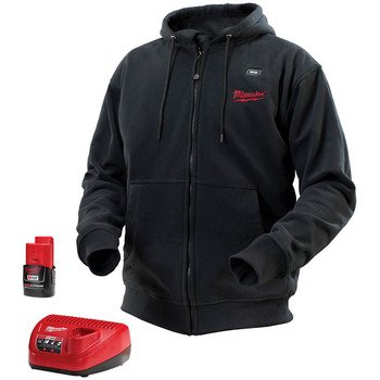 Milwaukee Elec Tool TV205487  M12 Heat Hoodie, , Black, L...
