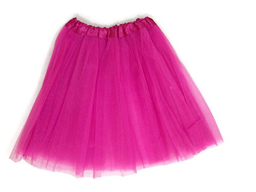 [Adult Tutu Assorted Colors (Hot Pink)] (Hot Costumes For Teens)