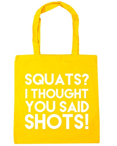 Said Bag Thought I Squats Shopping litres Shots Gym HippoWarehouse 10 Yellow Beach Tote 42cm You x38cm RBq1Iw4
