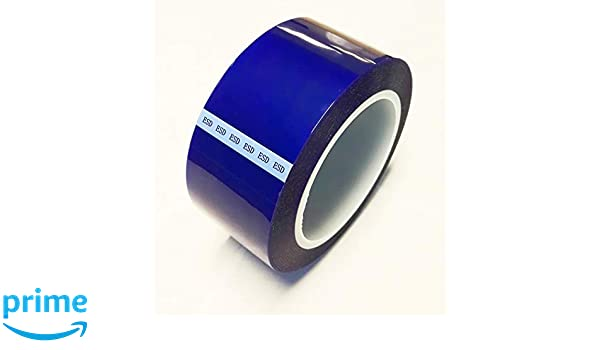 Bertech ESD Safe Blue Polyester Tape 1//4 Wide x 72 Yards Long 3 Core