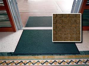 All Purpose Heavy Duty Entrance Mat – FloorGuard Diamond – 4 x 8 – Brown – Indoor or Covered Outdoor – Commercial or Residential