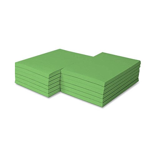 Green Pad Colored (Colored Memo Pads Size 4 X 6 - 100 Sheets Per Pad, 5 Pads Per Pack (Lime Green))