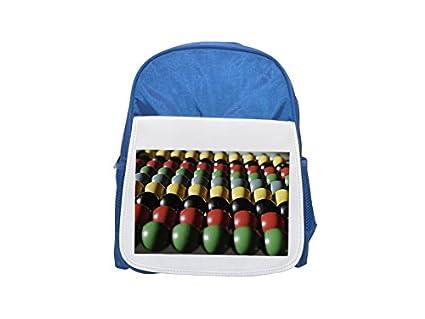 Colorful Abacus impreso Kid s azul mochila, para mochilas, cute small Mochilas,