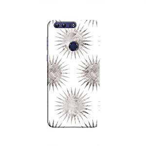 Cover It Up - Silver White Star Honor 8 Hard Case