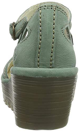 Mujer Verde Green Fly 144 Punta De Cerrada Con Zapatos Para Yuna jade London Tacón zO7Swvrzq