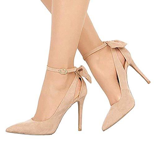 Chaussures Tomwell Été Sandale Bouche De Poissons Sandales Bow Shoes Hauts Printemps Femme Beige Lacets Heel Talons Plage Mode Thin fSAfqBZ