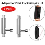 Adapter for Fitbit Inspire and Fitbit Inspire HR Smartwatch Bands, Tuscom Stainless Steel Metal Connection Adapter Watch Strap Connector Fit Fitbit Inspire/Inspire HR (2 Pairs)