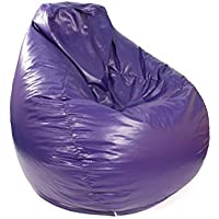 Gold Medal Bean Bags 30011246817TD Large Leather Look Tear Drop Bean Bag, Purple