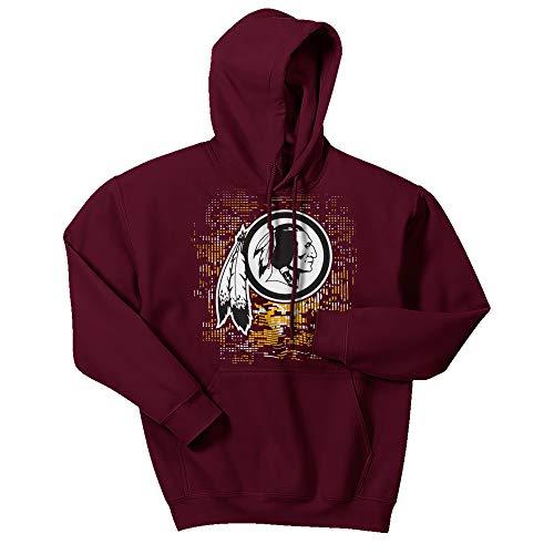 Zubaz Men's NFL Washington Redskins Digital Logo Hoodie, XXL, XX-Large