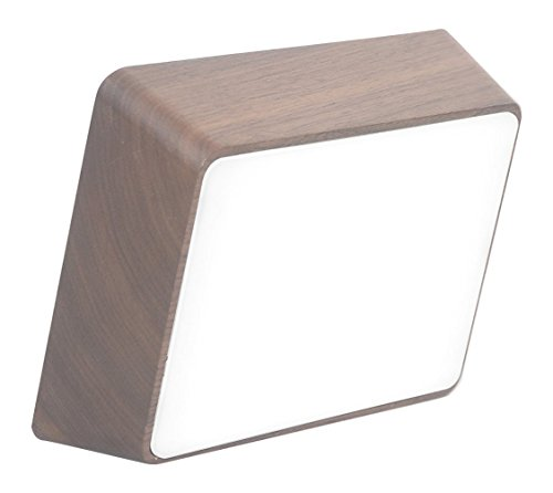 HCWD Studio Brick Lamp, Walnut (Metallic Walnut Table)