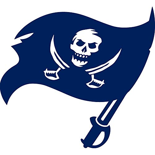 NBFU DECALS Tampa Bay Buccaneers 1 (Navy Blue) (Set of 2) Premium Waterproof Vinyl Decal Stickers for Laptop Phone Accessory Helmet CAR Window Bumper Mug Tuber Cup Door Wall Decoration