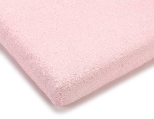 Julius Zöllner 8310049760 - Spannbetttuch Frottee für die Wiege, Größe: 90 x 40 cm, Farbe: rosa