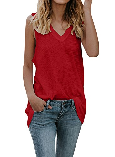 Fancy Tops For Teenagers - PASLTER Womens XL Loose Plain Blouses