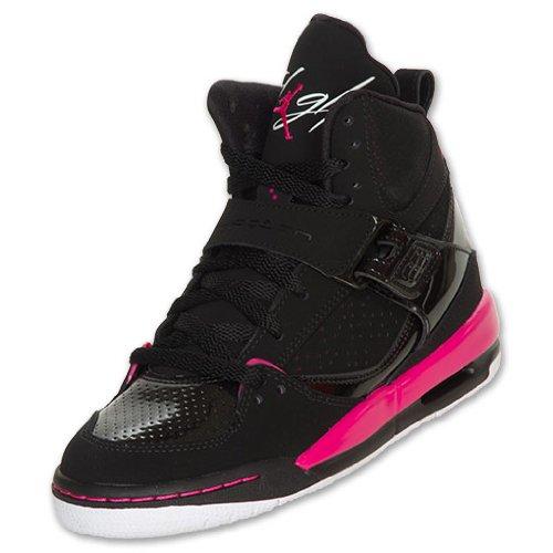 Nike Air Jordan Flight 45 High (GS) Girls Basketball Shoes 524864-017 Black 6.5 M US (Air Jordan Flight Pink)