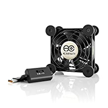 AC Infinity MULTIFAN S1, Quiet 80mm USB Fan for Receiver DVR Playstation Xbox Computer Cabinet Cooling