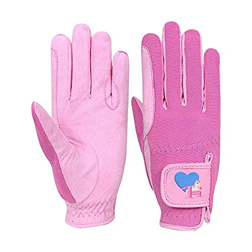 Little Rider Childrens/Kids Little Show Pony Riding Gloves (Large) (Prism Pink/Cameo Pink)