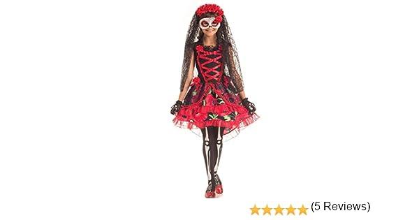 Disfraz de Novia Muerta de 3 Piezas para niñas Día de los Muertos ...