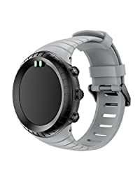 For Suunto Core, Kingfansion Replacement Sports Silicone Bracelet Strap Band (Gray)