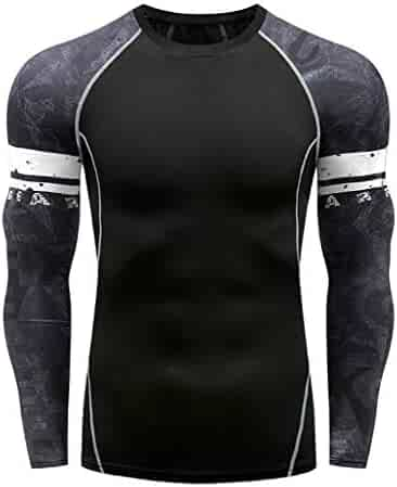 Band Tee Shirts & Music Fan Apparel Novelty & More Forthery Men Compression Shirt Cool Dry Long-Sleeve Shirt Sport Fitness Base Layer Tops