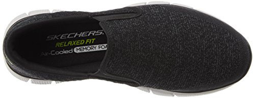 Skechers Equalizer 2.0, Baskets Basses Homme Noir (Bkw - Black White)