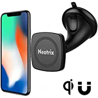 Neotrix Magnetic Wireless Car Charger Mount, Mobile Cell Phone Air Vent / Dashboard / Windshield Magnet Car Mount Holder Cradle and Charger for iPhone 8 8 Plus X Samsung S8 Plus and others Qi Enabled
