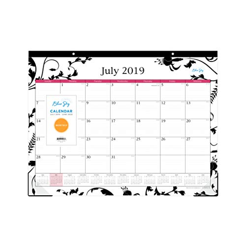 Blue Sky 2019-2020 Academic Year Monthly Desk Pad Calendar, 22