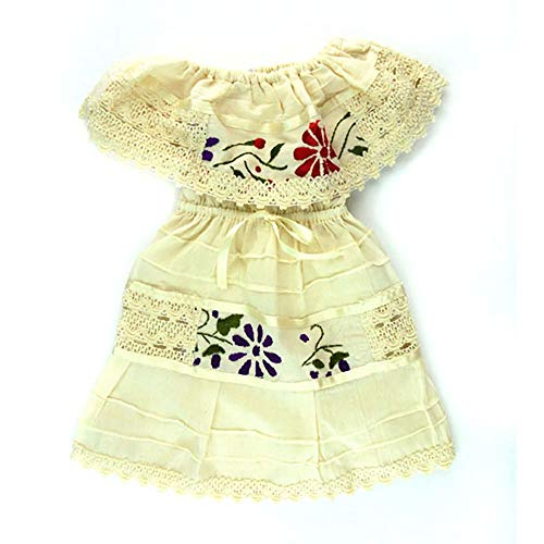 Mexican Infant Dress offwhite Size 4 Dress Day of The Dead Coco Theme Party Halloween Party]()