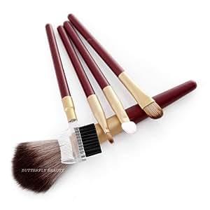 Pro 5pcs Makeup Brush Set Powder Blush Eyeshadow Eyelash Cosmetic Tool Kit W183m From Thailand.