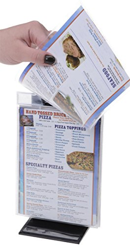 Flip Menu Holder Stands With 10 5x7 Clear Vinyl Sleeves