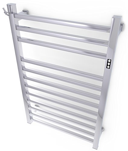 Brandon Basics Wall Mounted Electric Towel Warmer with Built-in Timer and Hardwired and Plug in Options, Stainless Steel - Polished