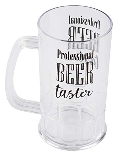 Plastic Beer Mugs - 6-Pack Shatterproof Classic Beer Mugs with Handle and Funny Drinking Quotes for Oktoberfest Themed Parties, Birthday, Beer Tasting, 3 Assorted Designs, 17-Ounce by Juvale (Image #8)