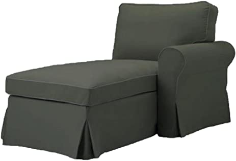 The Gray Ektorp Chaise with ARM Cover Replacement Is Custom Made For Ikea Ektorp Chaise Lounge  sc 1 st  Amazon.com : ektorp chaise cover - Sectionals, Sofas & Couches