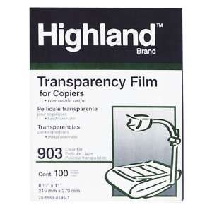 Recycled 3m Transparencies - 3M 903 Transparency Film with Removable Sensing Stripe