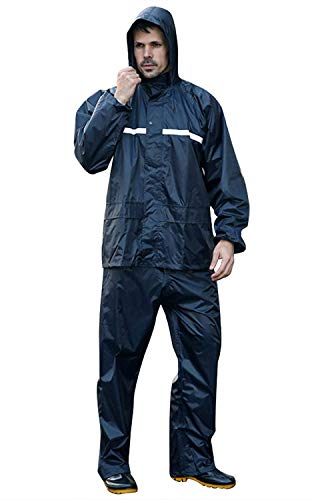 Adult Uomo Waterproof Taglie Hx Rainwear Raincoat Dunkelblau Men Abiti Poncho Fashion Unisex Rain Ladies Comode Hooded tY8I8pq