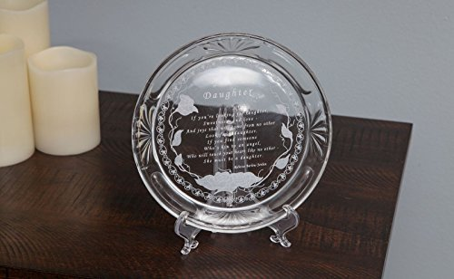 Trenton Gifts Daughter Crystal Plate - Plate Holder Not Included