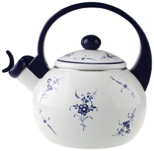 tea kettle whistling floral - 1
