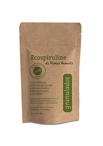 Espirulina 100% pura en granulados: alto contenido en nutrientes esenciales (vitaminas, proteinas