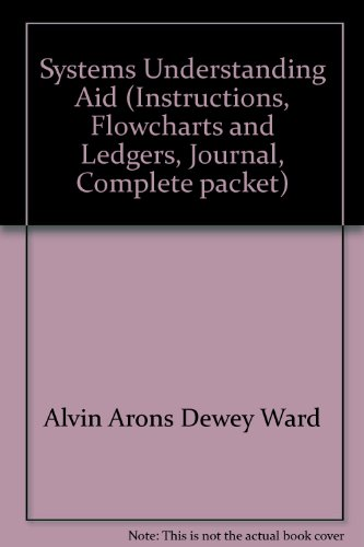 Systems Understanding Aid (Instructions, Flowcharts and Ledgers, Journal, Complete - Chart Flow Warehouse
