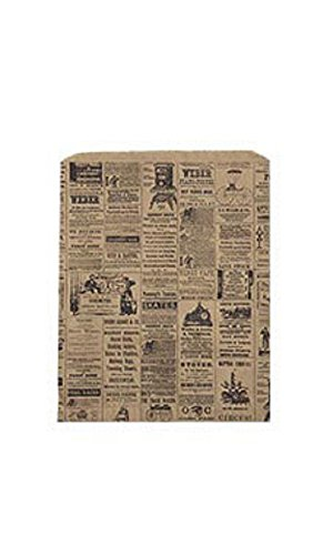 Large Newsprint Paper Merchandise Bags - Case of 500 by STORE001