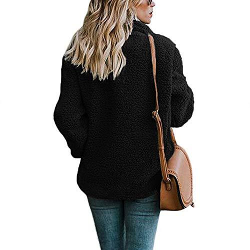 Revers Femmes Boutons Outerwear Manteau Noir Coat Longue Blouson Chaud Manches Veste ASSKDAN Zdq7Ed